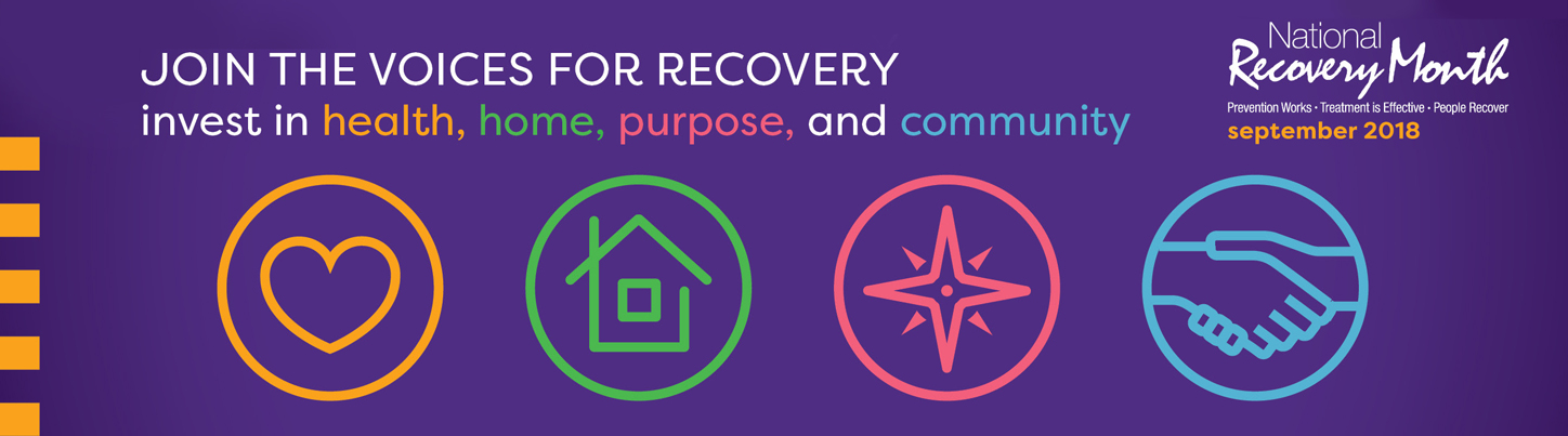 National Recovery Month.  Prevention Works, Treatment is Effective, People Recover.  September 2018.