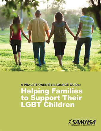 Cover of the Practitioner's Resource Guide - 4 friends holding hands walking away