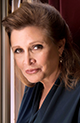 A headshot of Carrie Fisher