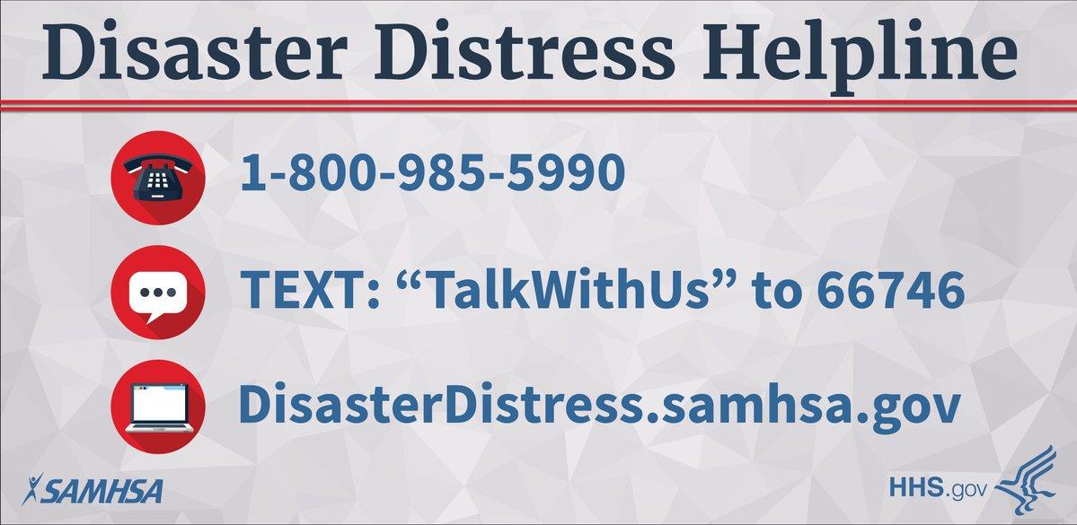 National Helpline Samhsa Substance Abuse And Mental Health >> Disaster Distress Helpline | SAMHSA - Substance Abuse and ...