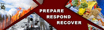 Disaster Technical Assistance Center (DTAC) banner reads Prepare, Respond, Recover
