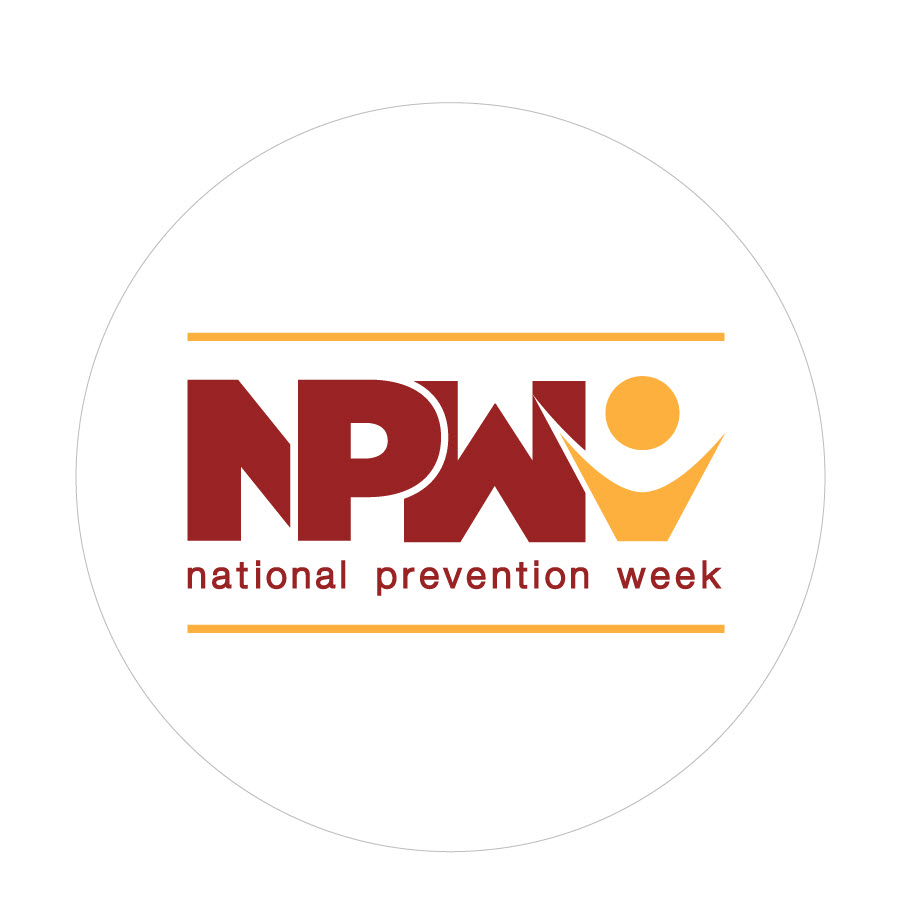 National Prevention Week (NPW) - May 13-19, 2018 sticker