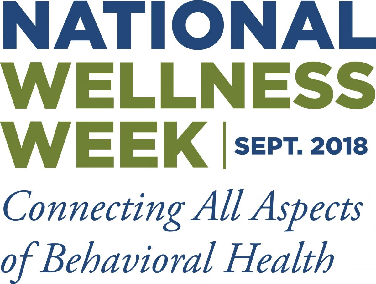 National Wellness Week | September 2018 - Connecting All Aspects of Behavioral Health logo