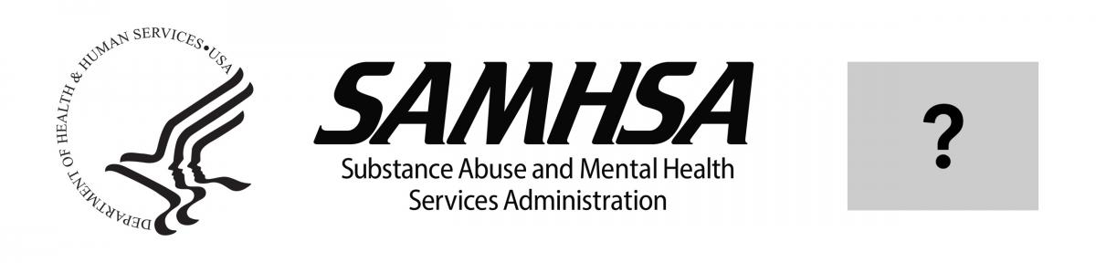 HHS Logo with SAMHSA Logo and Third-party Logo