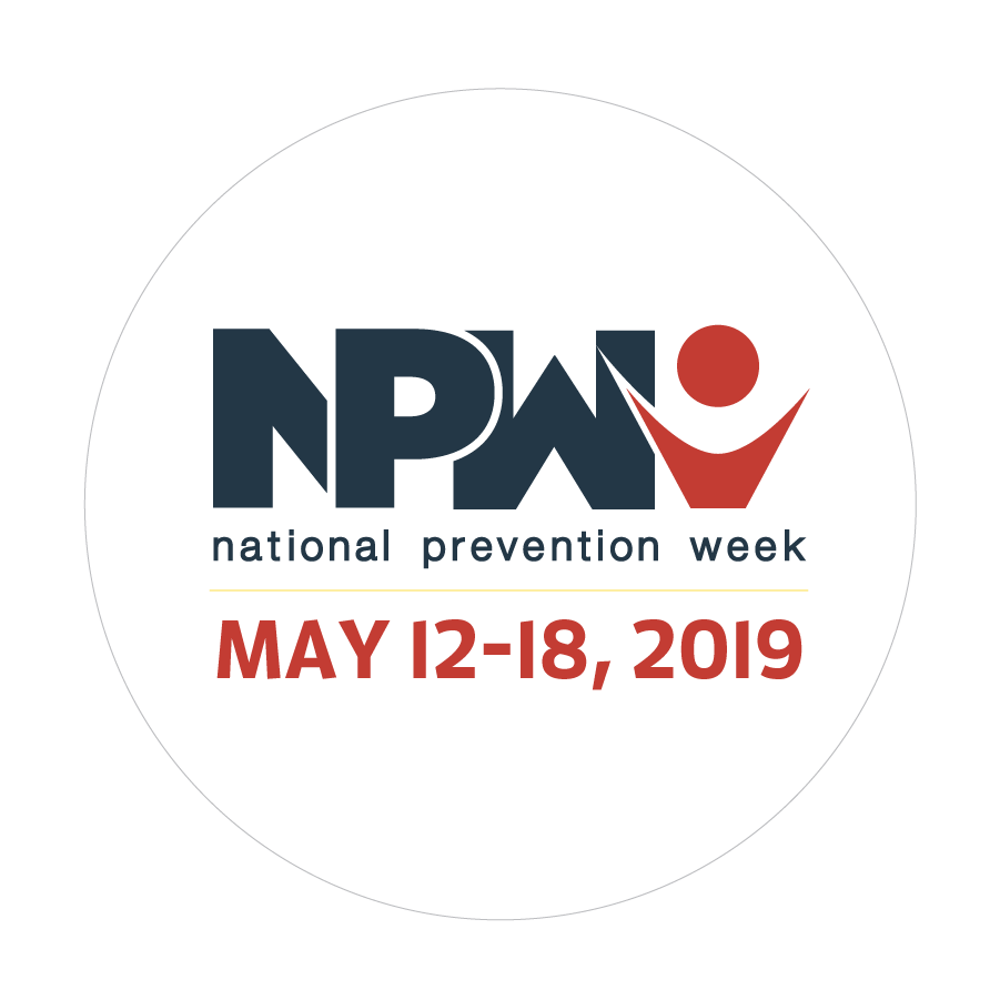 National Prevention Week Sticker May 12 - 18, 2019
