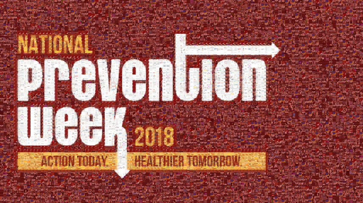 National Prevention Week 2018 - Action Today Healthier Tomorrow mosaic image
