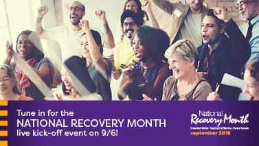 National Recovery Month Live Kick-off event on 9/6!