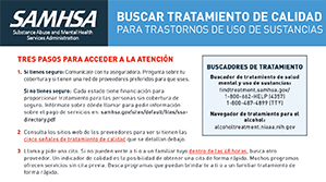 Screenshot of Buscar Tratamiento De Calidad Para Trastornos De Uso De Sustancias Document