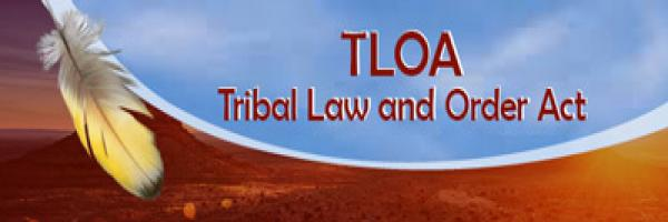 Tribal Law and Order with a feather illustration