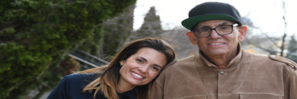 Actress Torrey DeVitto and her father, musician Liberty DeVitto