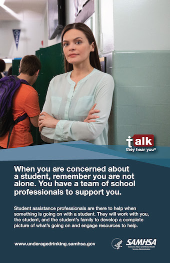 Talk They Hear You Student Assistance Poster Thumbnail