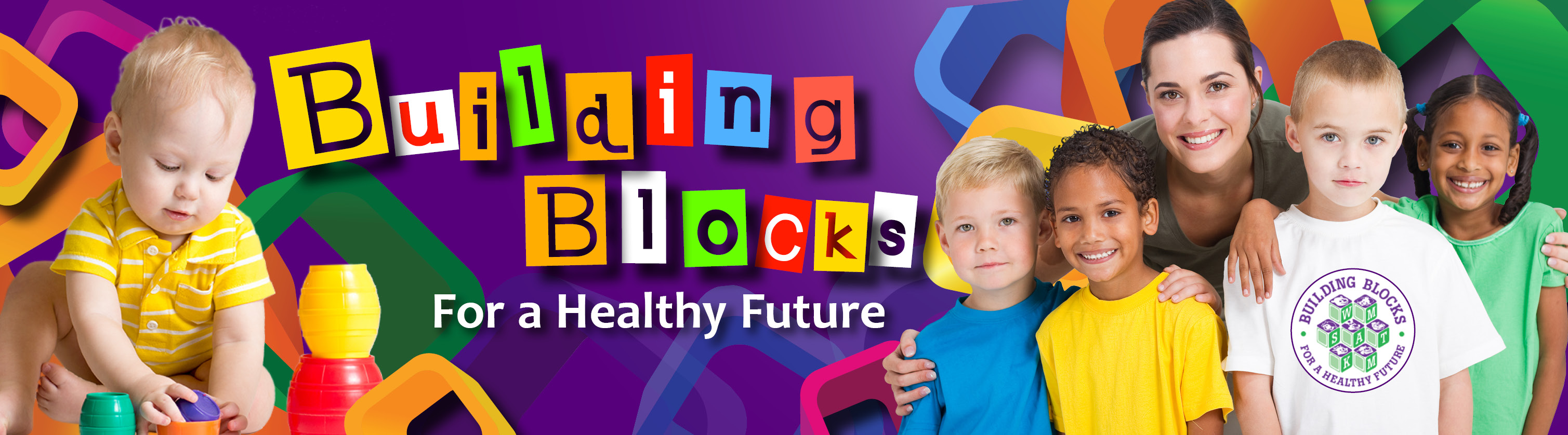 Building Blocks Banner - image of children