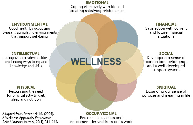 This is a picture of the eight dimensions of wellness.