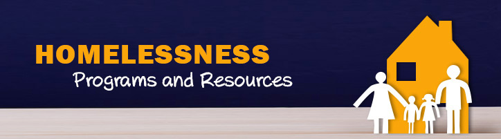 Homelessness Programs and Resources banner image