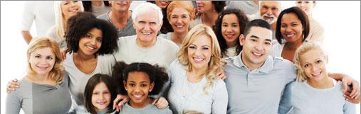 Una imagen de miembros de una comunidad diversa