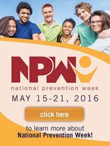 National Prevention Week English web badge