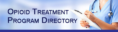 Image of the a banner for the Opioid Treatment Program Directory.