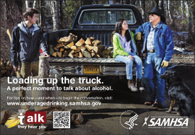 Loading up the truck themed underage drinking PSA for Native American audiences