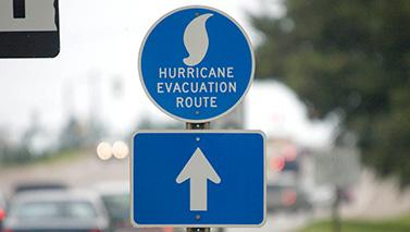 hurricane evacuation rout