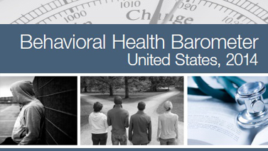 Version of the Behavioral Health Barometer report cover.