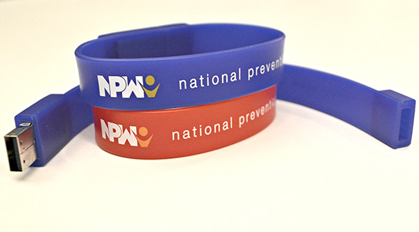 2016 National Prevention Week wristband