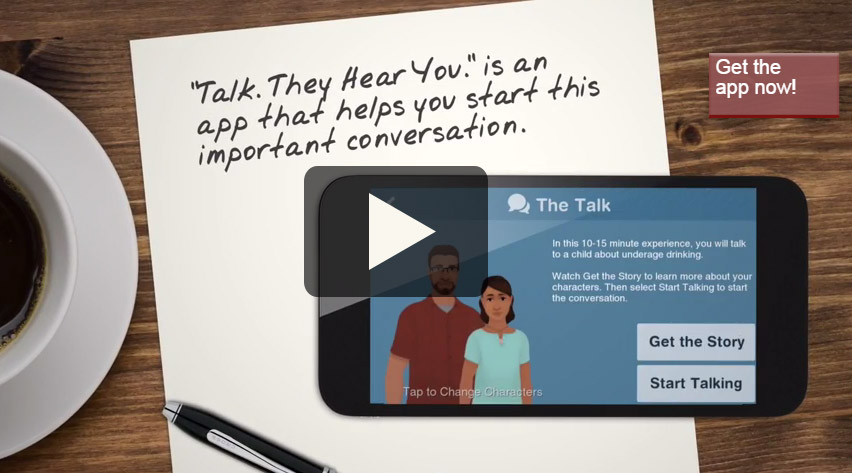 Screenshot of the Talk. They Hear You app explanatory video