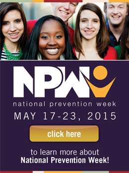 2015 National Prevention Week widget with image of community members